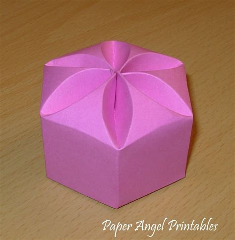 templates for wedding favor boxes lotus blossom box diy wedding favor template by