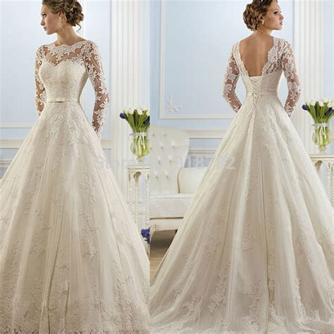 buy 2016 beautiful lace wedding dresses cheap line gown