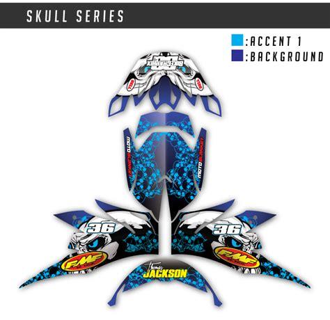 custom motocross helmet wraps motocross helmet wrap skull series bikegraphix