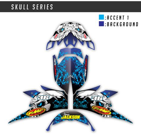 Motocross Helmet Wrap Skull Series Bikegraphix
