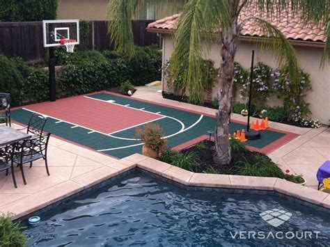 Backyard Sport Court Ideas Backyard Basketball Court Ketoneultras