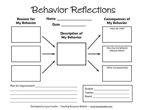 printable student activity sheets tween teaching behavior reflections sheet