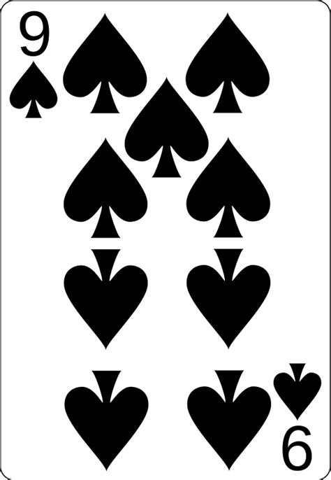 printable playing cards spades file 9 of spades svg wikimedia commons