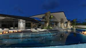Florida House Plans With Pool sylvester stallone s house by brian foster designs