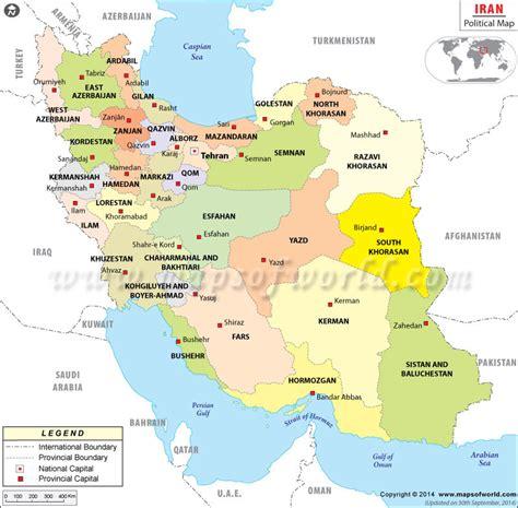 iran on a map political map of iran iran provinces map