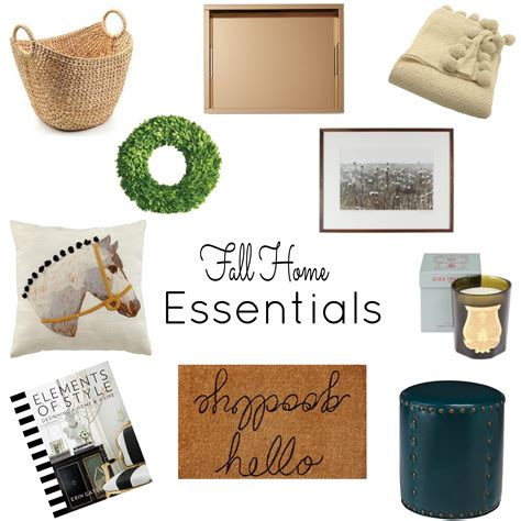 fall essentials for the home nomad luxuries