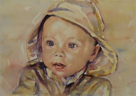 painting baby jackson portrait artists australia
