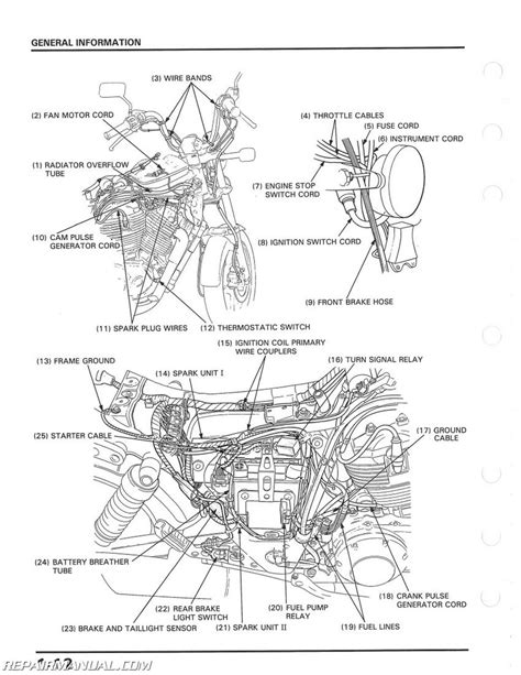 1985 1986 honda vt1100c shadow motorcycle service manual