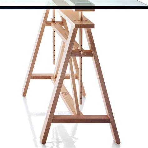 cavalletti per tavolo tavolo con gambe a cavalletto teatro di magis arredaclick