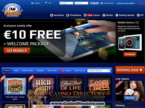 all slots casino review casino listings allslots casino review of bonuses promotions games