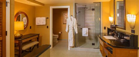 Bed Bath Shower Curtain one bedroom parlor suite aulani hawaii resort amp spa