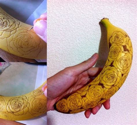 when does a tattoo start to peel here s what happens when you draw on a banana with a needle