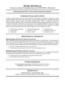 Exles Of Really Resumes by Real Estate Resume