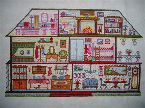 dollhouse november 1000 images about cross stitch dollhouse on