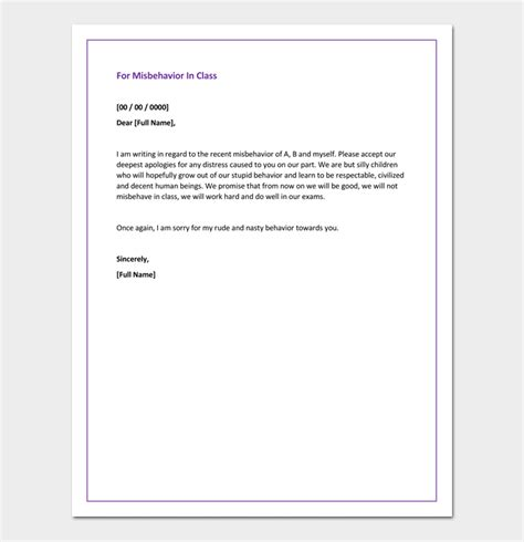 Apology Letter Of Absence apology letter to 5 useful sles exles