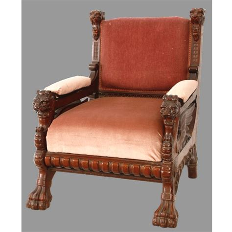 antique victorian armchair antique victorian mahogany armchair with carved winged
