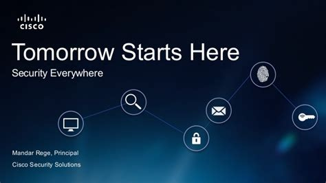 cisco security tomorrow starts here security everywhere