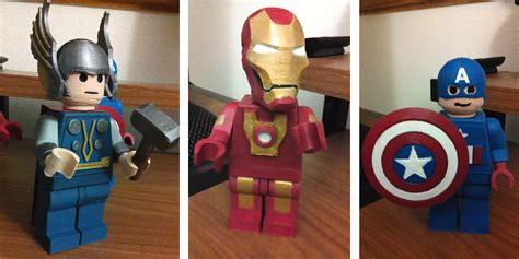 Thor Minifigure Superheroes Ironman Minifigures Lego Decool Pogo Xinh minifigs iron captain america and thor now available in 3d printed lego form