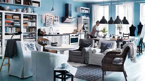 furniture ikea design ideas for modern home blue wall