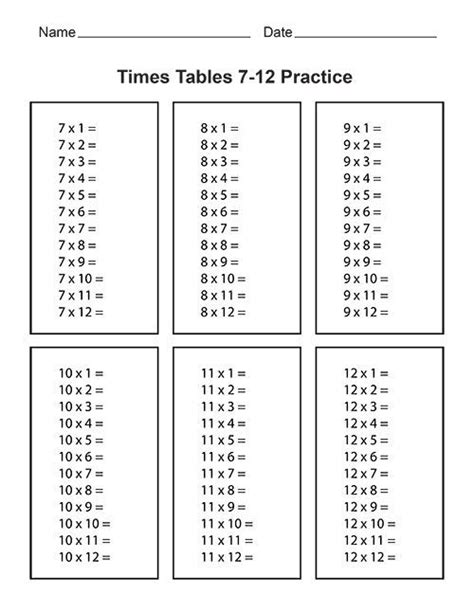 printable times tables without answers multiplication table 1 12 no answers brokeasshome com