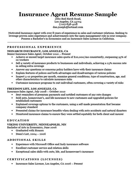 insurance underwriter resume sles insurance resume sle resume companion
