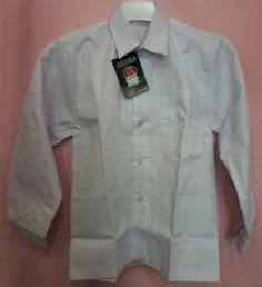 Seragam Putih Lengan Panjang Baju Hem Pria Ematic Ukuran Lebar Dada 46 Cm Panjang Baju