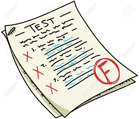 test it fail clipart result pencil and in color fail