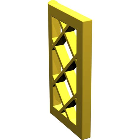 Lego Part Yellow Window 1 X 2 X 3 Pane With Thick Corner Tabs lego yellow window 1 x 2 x 3 latticed pane unreinforced 2529 brick owl lego marketplace