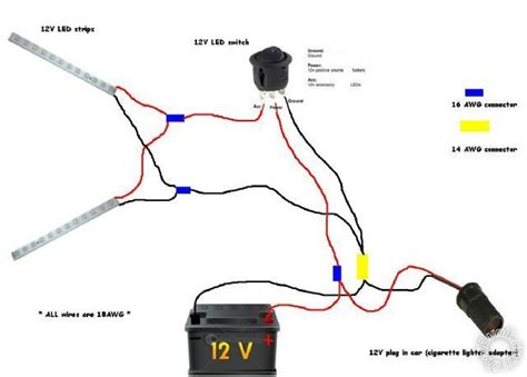 12 volt lighting systems connecting led to 12 volt car battery power supply