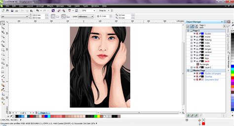 cara edit foto corel draw cara edit foto jadi kartun dengan corel vector portrait