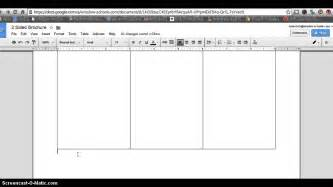 create doc template how to make 2 sided brochure with docs