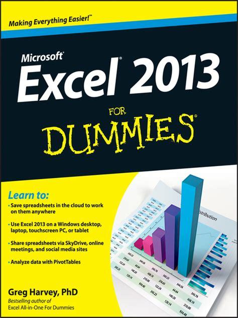 Excel Spreadsheet For Dummies by Excel 2013 For Dummies Ebook By Greg Harvey 2013 Waterstones