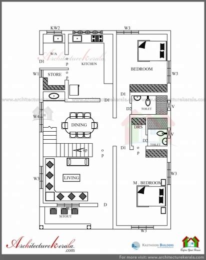 plan elevation and section of residential building architectural drawing of simple residential building