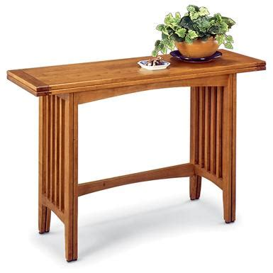 convertible sofa table mission style convertible sofa table 97940 living room at sportsman s guide