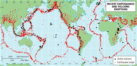 map us volcanoes map of recent earthquakes and volcanic eruptions of the