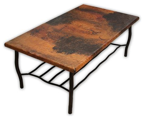 copper top coffee table ethan allen antique copper