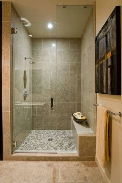 simple bathroom tile design ideas to da loos showers with built in benches