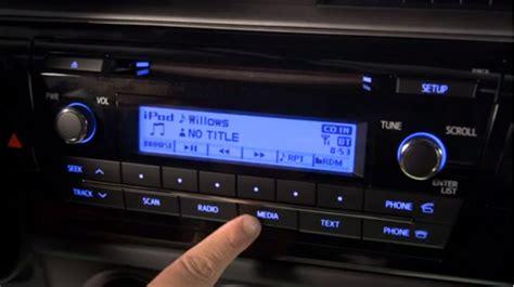 Toyota Corolla 2014 Radio How To Use Radio System On 2014 Toyota Corolla Autoevolution