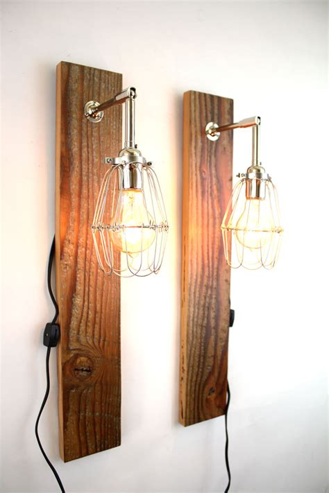 reclaimed wood wall l barn wood sconce industrial