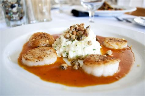 Tv Dinner No Reservations Scallops With Saffron Sauce by Dinner Menu
