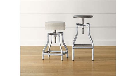 Adjustable Kitchen Counter Stools by Turner Gunmetal Adjustable Backless Counter Stool Crate