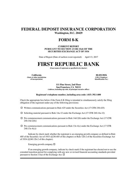 section 47 banking act first republic bank 2017 q1 results earnings call