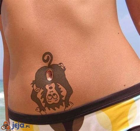 tattoo of us belly button reveal tatuaż na brzuchu małpa obrazki jeja pl