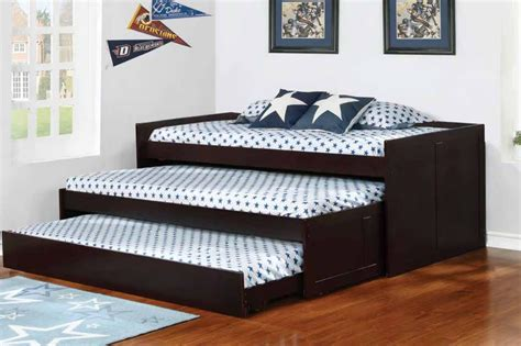 triple trundle bed aaron cappuccino triple daybed 405034 savvy discount