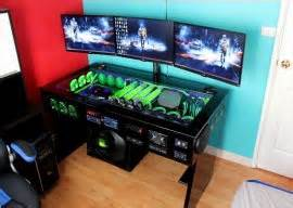 Desk With Computer Built In Watercooled Pc Desk Mod With Built In Car Audio System Techpowerup Forums