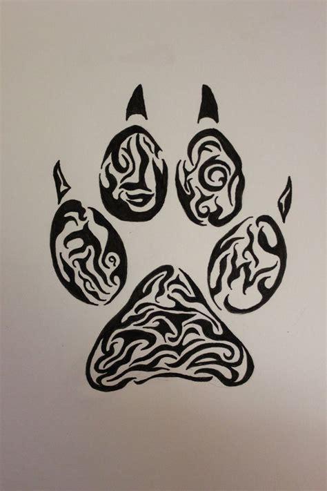 wolf tattoo designs free 1000 tribal paw print fantastic