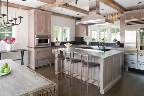 island style kitchen french casement cabinet kitchen beach style with limed