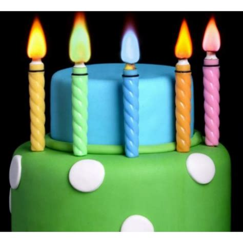 candele colorate candele con fiamma colorata per torte