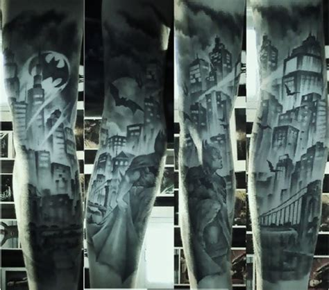 joker gotham tattoo video batman gotham city inspired tattoo sleeve incredible work
