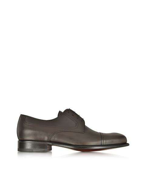 a testoni shoes lyst a testoni alo leather derby shoe in brown for